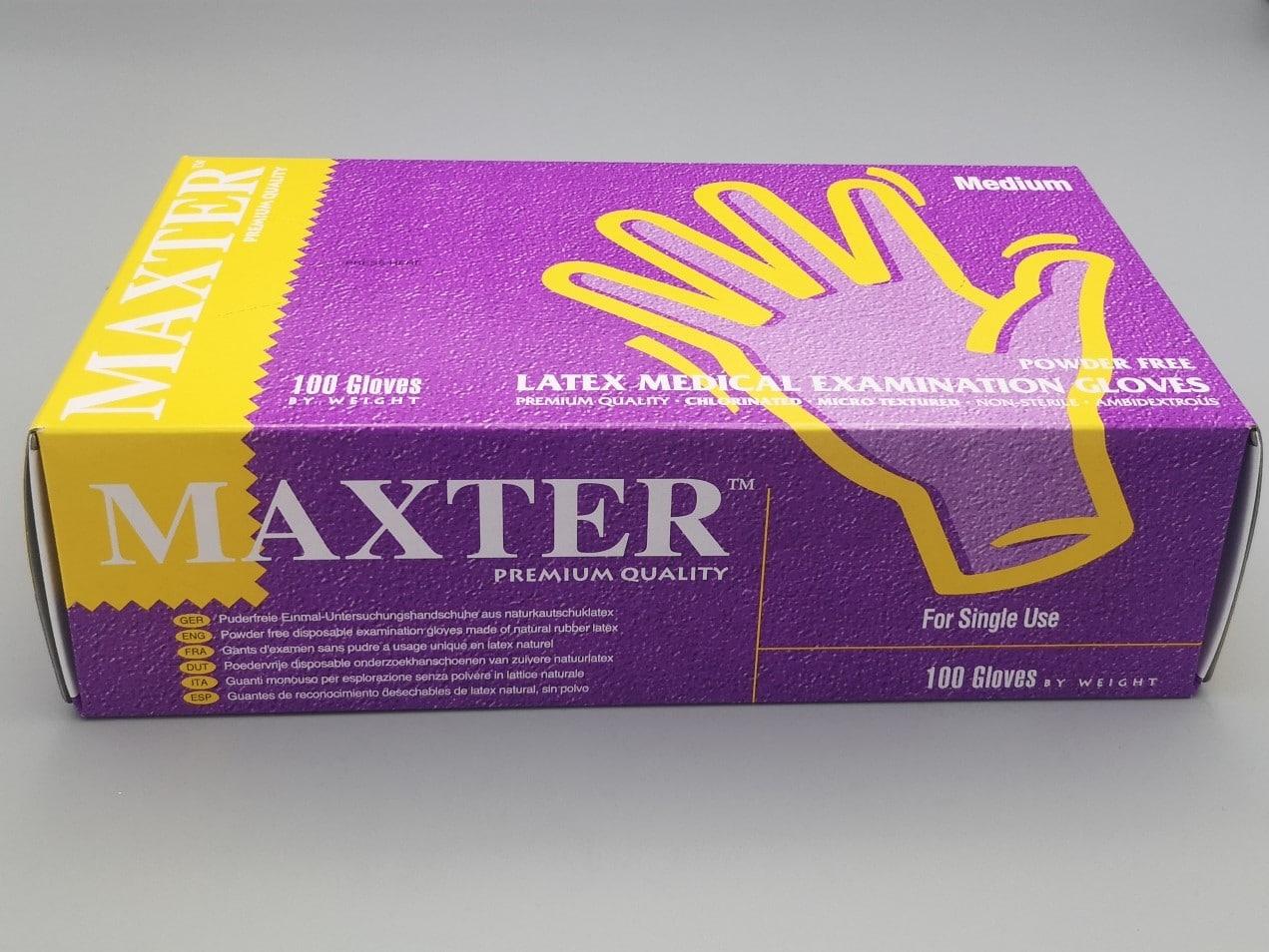 Gants Latex MAXTER non poudrés boîte de 100 pièces