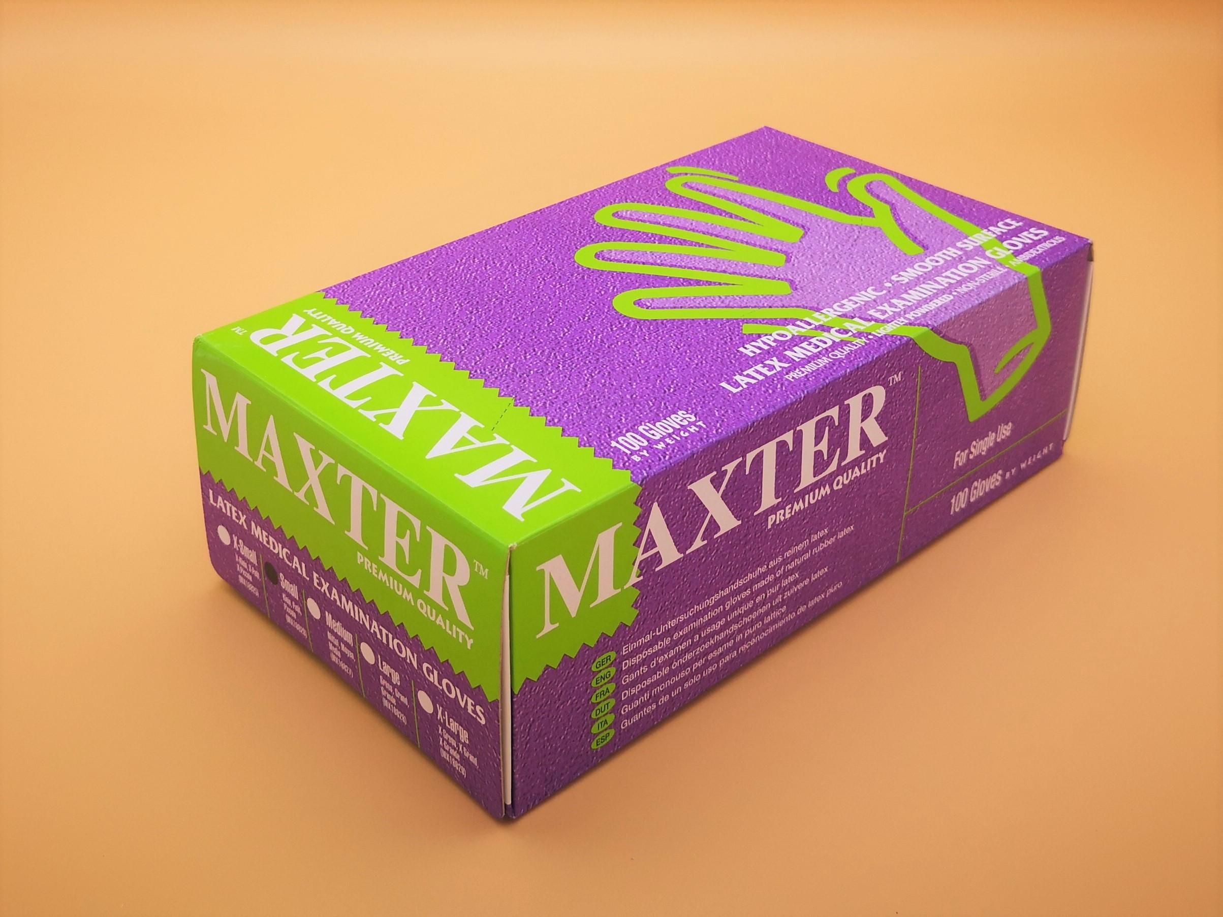 Gants Latex légèrement poudrés boîte de 100 pièces