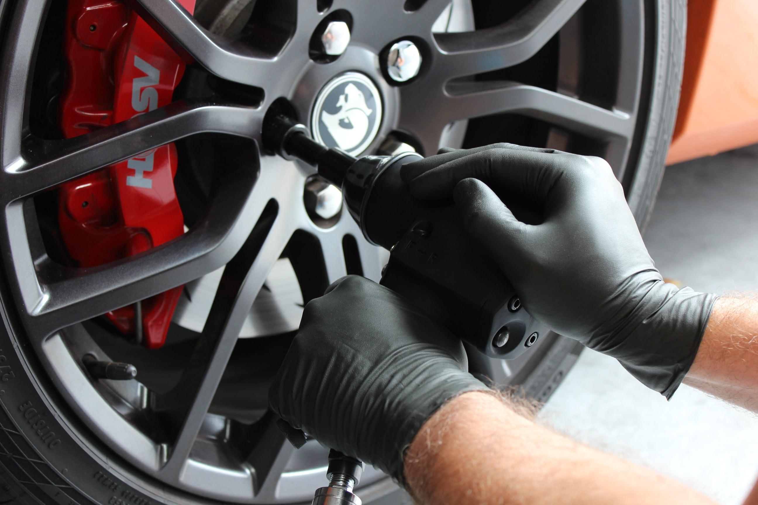 Gants nitrile noir automobile