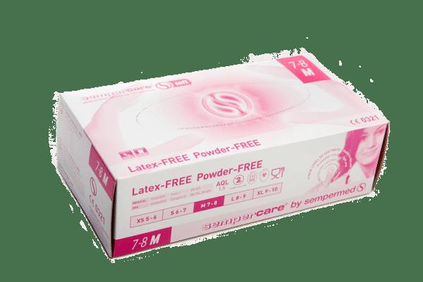 Gants nitrile rose