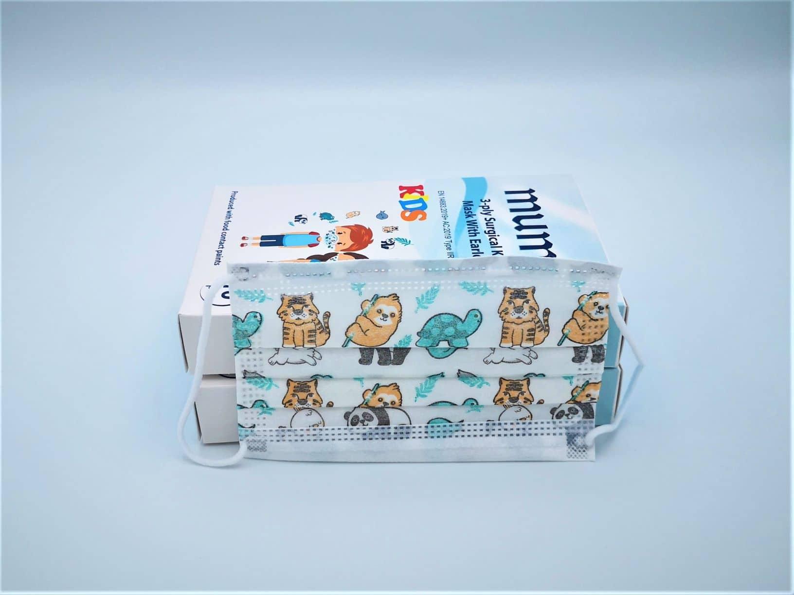 Masques chirurgicaux pour ENFANT type IIR boîte de 10 pièces
