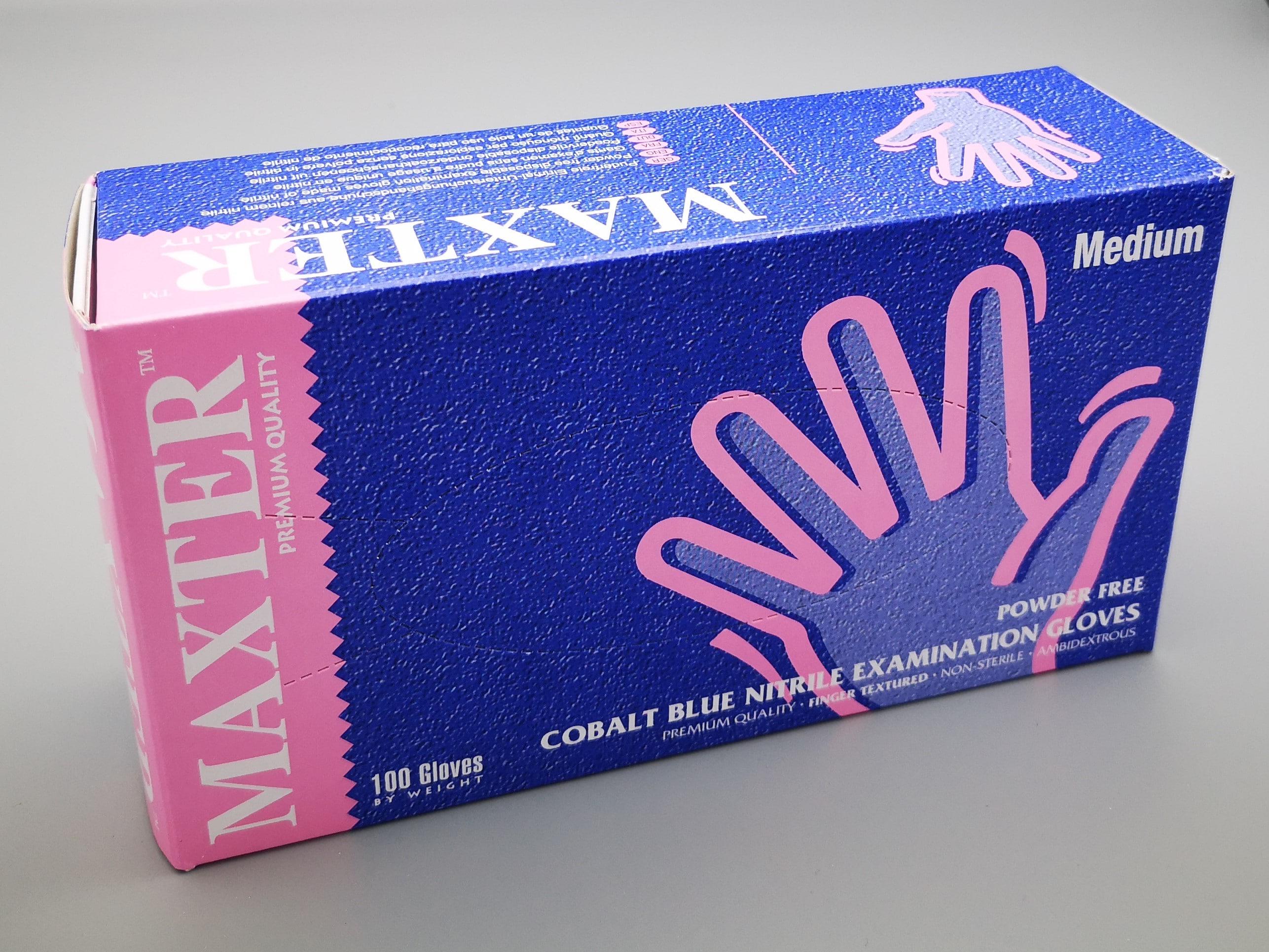 Gants Nitrile MAXTER non poudrés boîte de 100 pièces