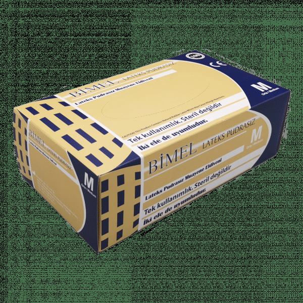 Gants Latex BIMEL non poudrés boîte de 100 pièces