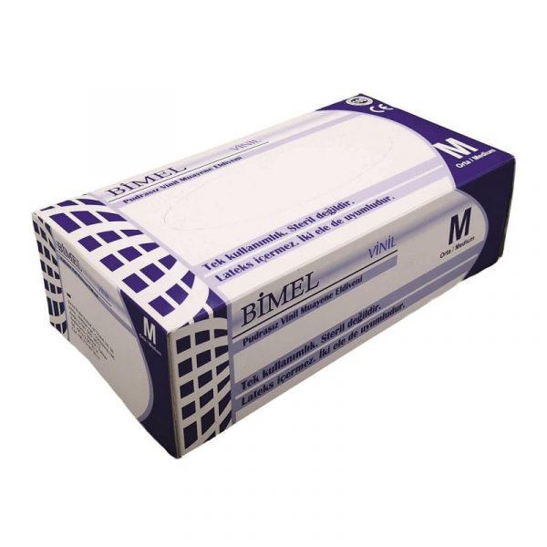 Gants Vinyle BIMEL non poudrés boîte de 100 pièces